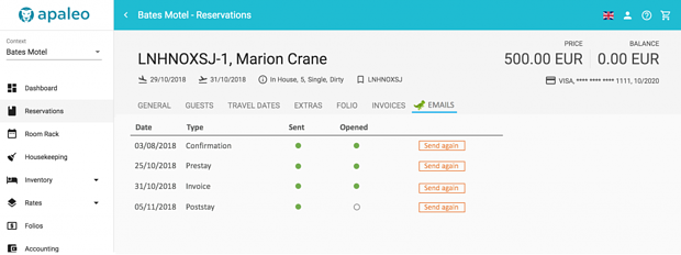 UI integration of a reservation tab, using styling more similar to apaleo